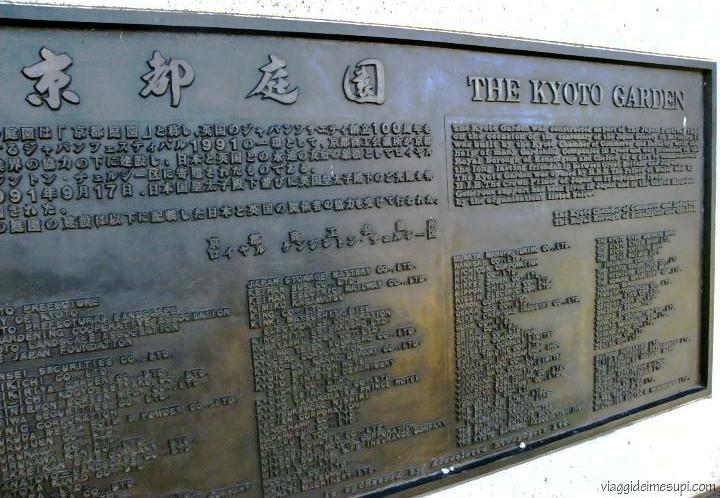 Kyoto Garden, ingresso