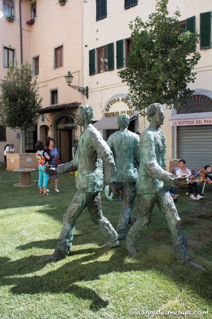 Pistoia verde - statua