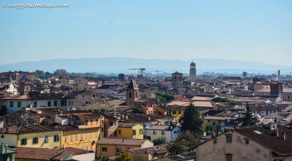 Salire sulla Torre di Pisa, vista dall'alto